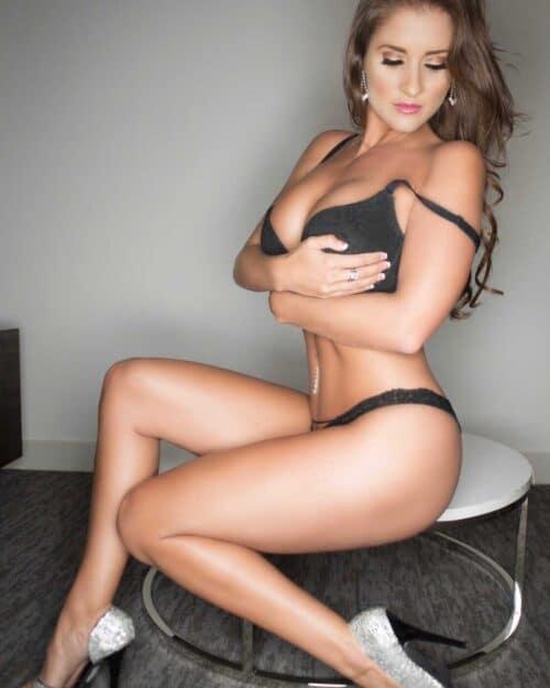 Sexy white girl strip tease for vegas stripper party